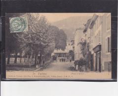 B  38  -  CPA  De  TULLINS  -  Café  SERPINET  Place  D'  Armes  En  1907 - Tullins
