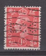 Engeland United Kingdom, Great Britain, Angleterre, Bretagne, King George VI, SG 486, Y&T Used PERFIN ECC - 1902-1951 (Koningen)