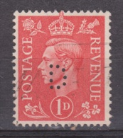 Engeland United Kingdom, Great Britain, Angleterre, Bretagne, King George VI, SG 486, Y&T Used PERFIN D - 1902-1951 (Koningen)