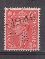 Engeland United Kingdom, Great Britain, Angleterre, Bretagne, King George VI, SG 486, Y&T Used PERFIN LSTB - 1902-1951 (Koningen)