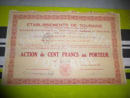 ETS DE TOURAINE (joué Les Tours-indre Et Loire) - Actions & Titres