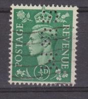Engeland United Kingdom, Great Britain, Angleterre, Bretagne, King George VI, SG 485, Y&T Used PERFIN S&M - 1902-1951 (Koningen)