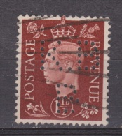 Engeland United Kingdom, Great Britain, Angleterre, Bretagne, King George VI, SG 464, Y&T Used PERFIN KBB - 1902-1951 (Koningen)