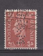 Engeland United Kingdom, Great Britain, Angleterre, Bretagne, King George VI, SG 487, Y&T Used PERFIN S&M - 1902-1951 (Koningen)