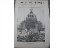 1889 L'EXPOSITION DE PARIS / LES TRAVAUX LA PORTE PRINCIPALE / CHAMP DE MARS - 1850 - 1899