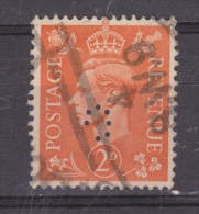 Engeland United Kingdom, Great Britain, Angleterre, Bretagne, King George VI, SG 488, Y&T Used PERFIN O - 1902-1951 (Koningen)