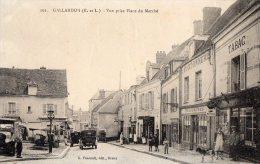 28 EURE ET LOIR  -  GALLARDON Vue Prise Place Du Marché (tardive Peu Courante) - Autres Communes