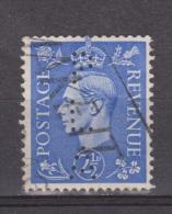 Engeland United Kingdom, Great Britain, Angleterre, Bretagne, King George VI, SG 489, Y&T Used PERFIN PLA - 1902-1951 (Koningen)