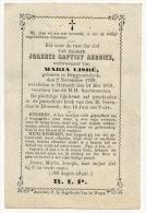 Joannes Baptist Andries   1799 - 1876    Begynendyck - Hersselt - Images Religieuses