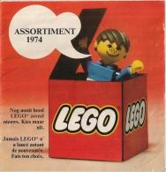 LEGO - CATALOGUE - ASSORTIMENT 1974 (Bilingue Français Neerlandais) - Catalogs