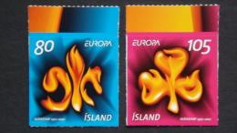 Island 1170/1 Selbstklebend Aus MH **/mnh, EUROPA/CEPT 2007, Pfadfinder - Ungebraucht