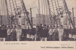 MIL166  --  A FAIRE LE TOUR DE BARRE  --  MONTEZ !    MARINE FRANCAISE   STEREO CARD - Stereoskope - Stereobetrachter