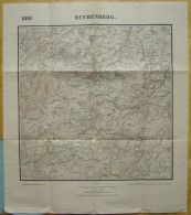 Topogr. Karte Von Bayern 1:25 000, Nr 800 Buchenberg Mit Ermengerst Und Wiggensbach, Um 1920 - Topographische Karten