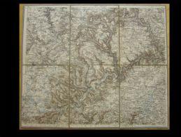 Topogr. Karte Von Tuttlingen, 1897, 1:150 000 Mit Rottweil, Ebingen, Meßkirch, Donaueschingen, Schwenningen, Spaichingen - Topographische Karten