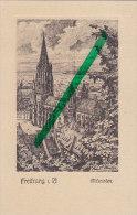 Freiburg I.Br., Münster, Künstlerkarte Von Rudi Müller, Um 1910 - Kirchen U. Kathedralen
