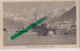 Davos-Platz Gegen Tinzenhorn, Um 1910 - GR Graubünden