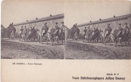 MIL167  --  BISKRA  --  ALGER  ~  STEREO CARD ~  HORSE - Stereoskope - Stereobetrachter