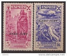 CJBE01-L4055.lote BENEFICENCIA.Historia Del Correo.CABO JUBY 1938.(Ed 1/6**) Sin Charnela..LUJO - Cabo Juby
