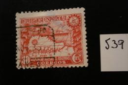 Espagne - 30c Rouge-carminé Expédition Iglesias  - Année 1935 - Y.T. 539 - Oblit. Used. - 1931-Today: 2nd Rep - ... Juan Carlos I