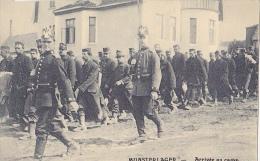 MIL171  --  MUNSTERLAGER  --   PRISONERS  ---- FRANCE,  ARRIVEE AU CAMP - Weltkrieg 1914-18