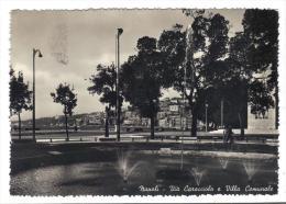 229/600 - NAPOLI , VIA CARACCIOLO . Viaggiata Nel 1954 . Timbrino Hotel Grilli - Napoli