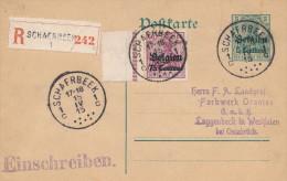 901/21 -  Entier Germania + TP 75 C RECOMMANDE SCHAERBEEK 1 En 1915 Vers L' Allemagne - German Occupation