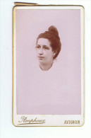 Photographie  Cartonnée     Portrait De Femme    Amphoux   Avignon - Photos
