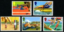 GRAN BRETAÑA 1986 - DEPORTES - HOCKEY - SHOOTING - HALTERO - ROW - ATLETICS - YVERT Nº  1231-1235 - Unused Stamps