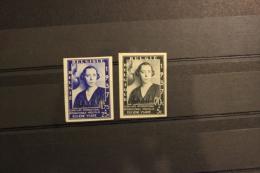 NO RESERVE ! BELGIE 1937 X,MH IMPERF 456-457 B ELISABETH  SEE SCAN MUZIEK MUSIC - Ongetande