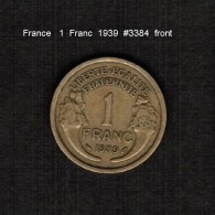 FRANCE    1  FRANC   1939  (KM # 885) - France
