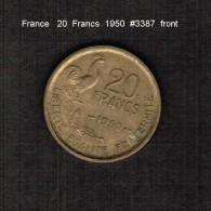 FRANCE    20  FRANCS   1950  (KM # 917.1) - L. 20 Francs