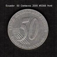 ECUADOR    50  CENTAVOS   2000  (KM # 108) - Ecuador