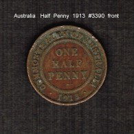 AUSTRALIA    1/2  PENNY   1913  (KM # 22) - Sterling Coinage (1910-1965)