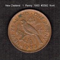 NEW ZEALAND    1  PENNY   1953  (KM # 24.1) - New Zealand