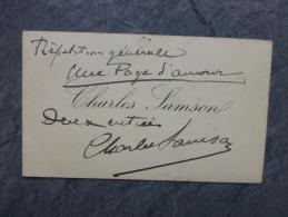 Charles Samson, Théâtre Odéon,carte Autographe Pour ZOLA, Une Page D´amour 1893 ; Ref026 - Autographes