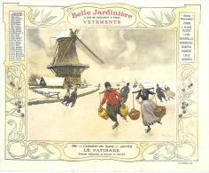 LE PATINAGE - Patineurs Hollandais - CALENDRIER JANVIER 1906 - LA BELLE JARDINIERE - Calendriers