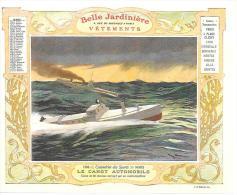 LE CANOT AUTOMOBILE - CALENDRIER MARS 1906 - LA BELLE JARDINIERE - Calendriers