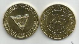 Nicaragua 25 Centavos 2007. UNC - Nicaragua