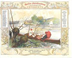 LE CANOTAGE - CALENDRIER JUILLET 1906 - LA BELLE JARDINIERE - Calendriers