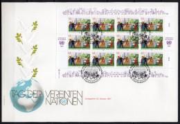 Nations Unies (Vienne) - 1987 - Yvert N° 75 & 76 - FDC - FDC