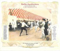 L'ESCRIME - CALENDRIER OCTOBRE 1906 - LA BELLE JARDINIERE - Calendriers