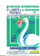 95 - CPM - ENGHIEN - 9e FESTIVAL INTERNATIONAL DE LA CARTE POSTALE ET DU GRAPHISME - FESTICART 1997 - CH. GREGORI - 888 - Enghien Les Bains