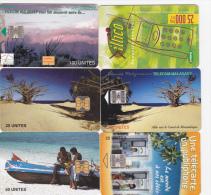 Y] 6 Télécartes Phoncards Madagascar Malagasy Divers Varied - Madagascar