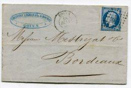 SEINE MARITIME De ROUEN LAC Du 18/01/1858 Avec N°14 Oblitéré PC 2738 - 1849-1876: Classic Period