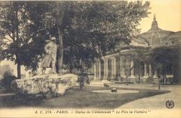 CPA PARIS - STATUE DE CLEMENCEAU - LE PERE DE LA VICTOIRE - France