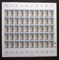 FRANCE 1996 FEUILLE COMPLETE DE 50 TIMBRES CONSECRATION DE LA BASILIQUE NOTRE DAME DE FOURVIERE LYON 3022 ** ; - Feuilles Complètes