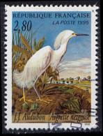 Timbre Oblitéré N° 2929(Yvert) France 1995 - Oiseau Aigrette Neigeuse - Frankreich