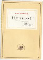 Carte De Vins Champagne Henriot Reims Illustrateur Redon - Alimentare