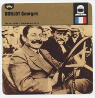 """L 16   FICHE SUR L´AUTOMOBILE  FORMULE 1  ANNEE 1978  """" GEORGES BOILLOT  """"  FORMAT 12 X 12.5 - Non Classés"""