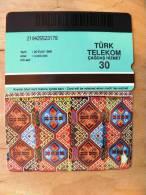 Magnetic Phone Card From Turkey, Folk Ornaments - Turchia